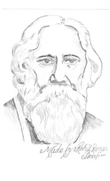 Rabindranath Tagore as the  Rabindranath Tagore Sketch Picture